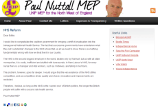 UKIP Deputy Leader sees NHS as a problem