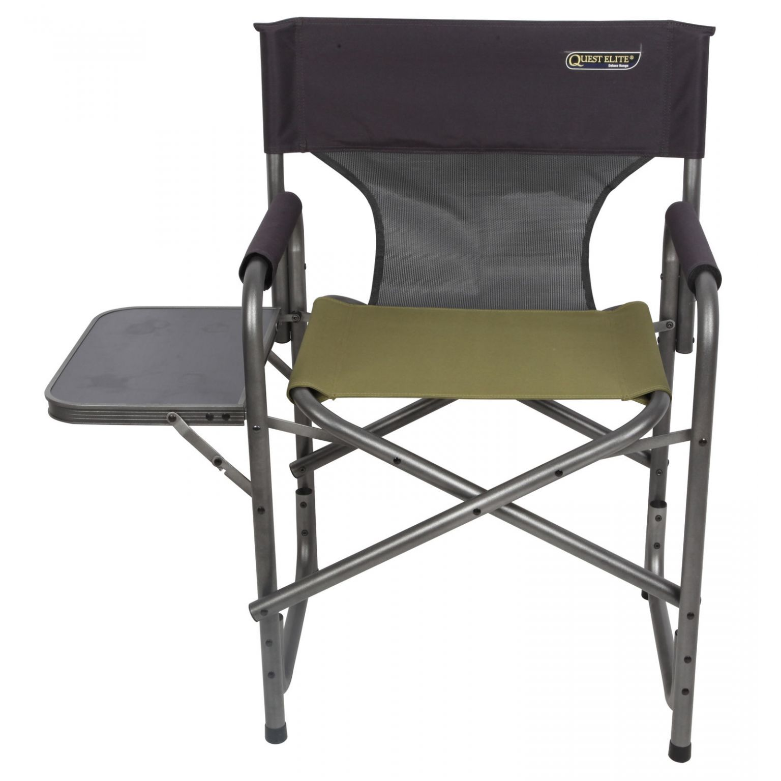 Folding Camp Chair With Side Table Quest Elite Surrey Deluxe Folding Sage Camping Chair