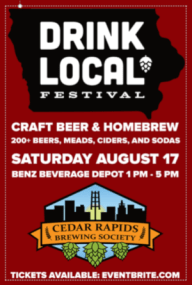 Drink Local Festival Cedar Rapids Brewing Society