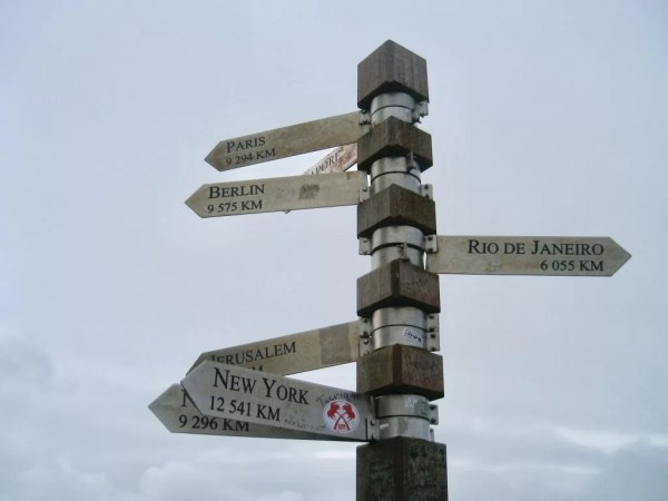 Cape of Good Hope direction signs