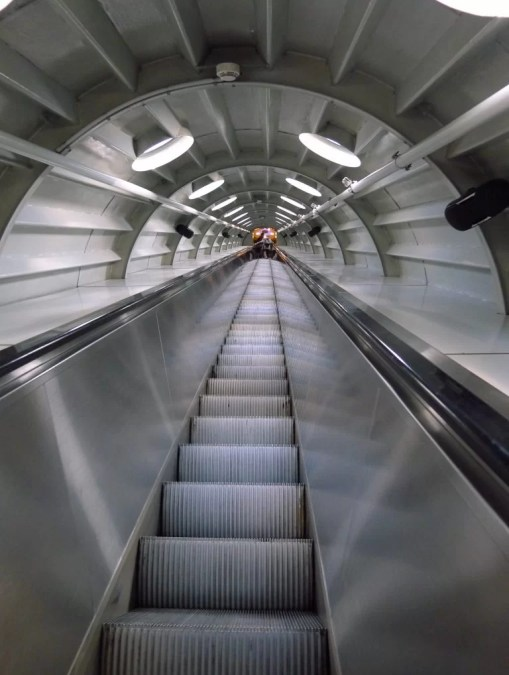 Atomium escalator