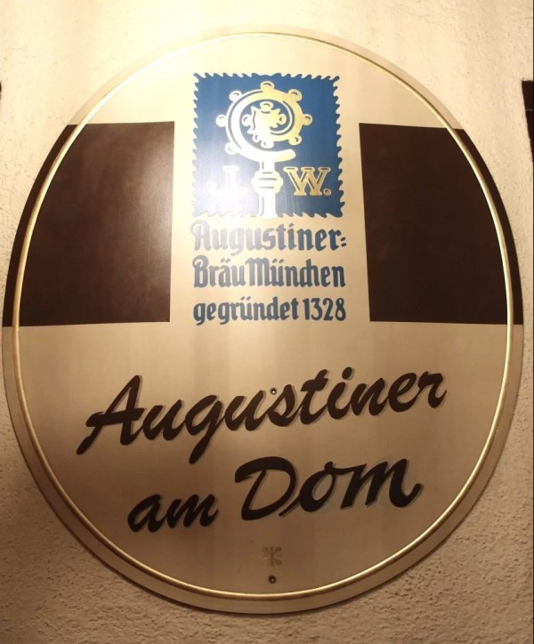 Augustiner am Dom beer sign