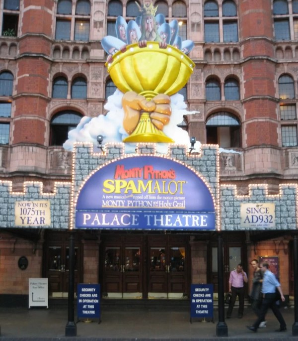 london palace theater spamalot
