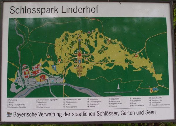 Linderhof Palace grounds map