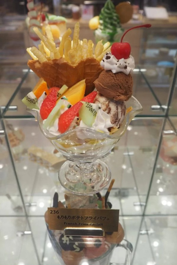 french fries parfait at Karafuneya