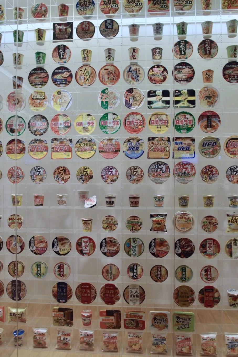 Cup Noodles Museum wall display