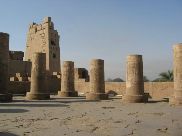 row of columns at the Temple of Kom Ombo