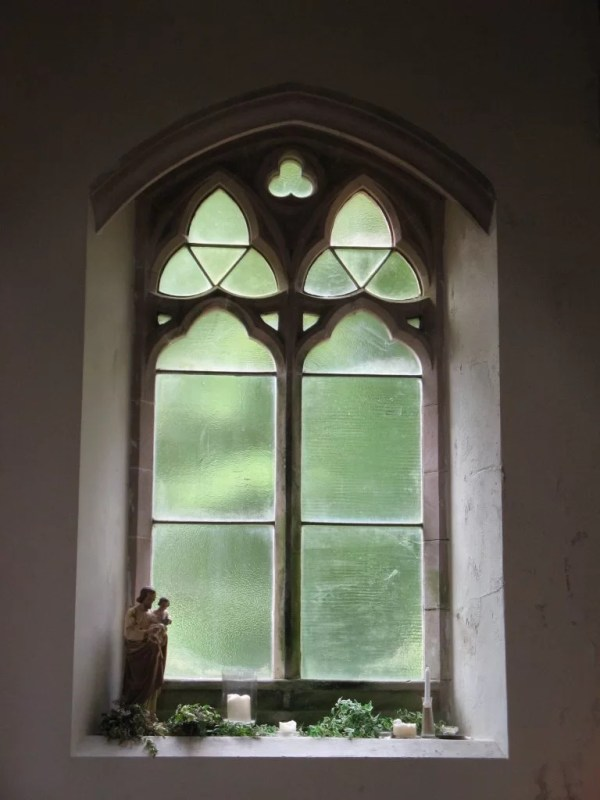 Interior window, Church of St Mary and St Finnan Scotland
