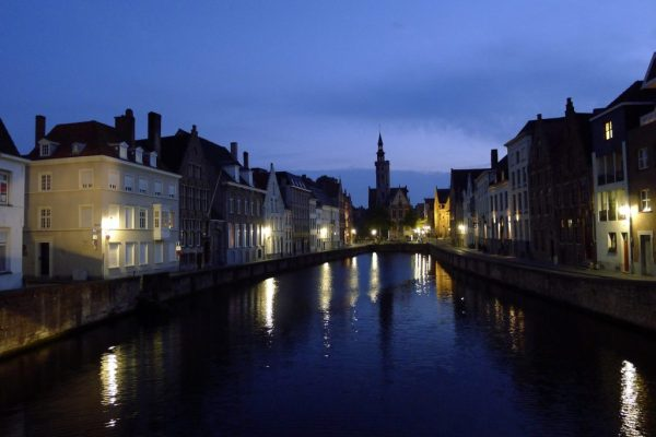 Bruges at night, Belgium