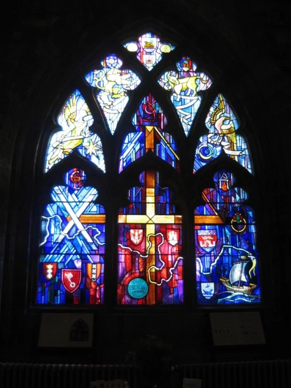 Church of the Holy Rude stained glass window