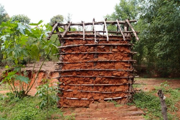 mud and wood house