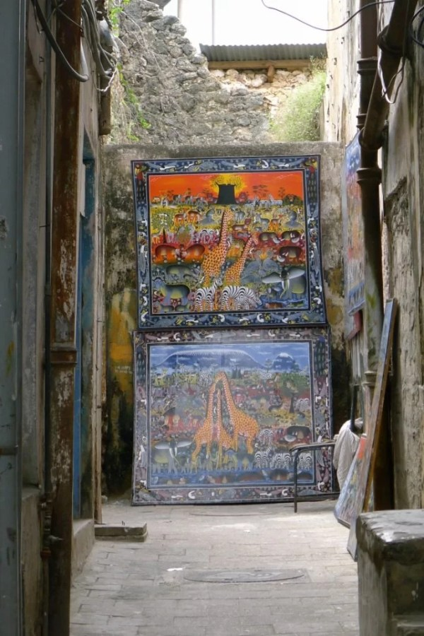paintings in Stone Town