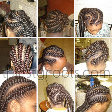 French Braid Weave Hairstyles Fusion Hair Extensions Nyc