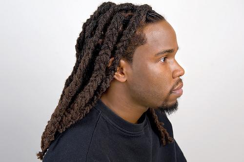 Men braided dreadlocks