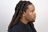 Men braided dreadlocks