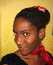 dreadlock updo hairstyle