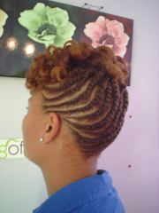 natural hair flat twist updo