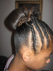 flat twist hair design