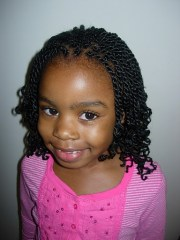 kinky twists hairstyle front view