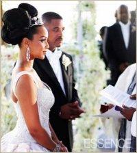 Lisa Raye wedding big bun hairstyle - thirstyroots.com ...