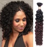 human hair micro braids