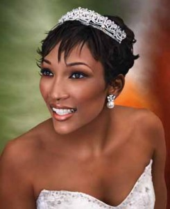 Short Haircut Wedding Hairstyle Black