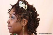cute curly dreadlock wedding hairstyle