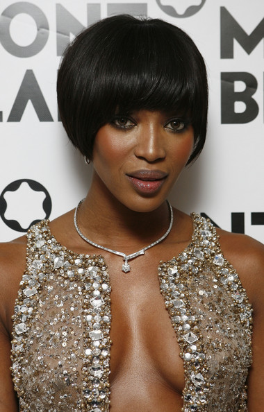 Naomi Campbell Short Bob Haircut Front View Thirstyroots