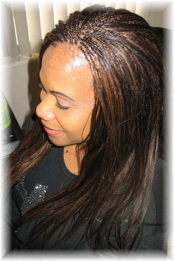 Invisible Braids With Yaki Straight Hair Weave