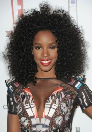 kelly rowland textured curly hairstyle