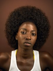 natural afro hair style black