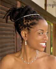 black dreadlocks updo wedding