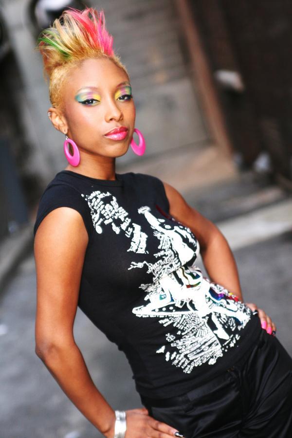 funky short black women haircut  thirstyrootscom Black Hairstyles
