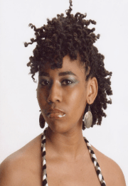 cute two strand twist updo natural