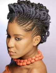 flat twist two strand updo