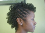 twist and curl updo natural hairstyle