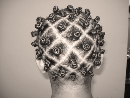 Bantu Knots On Short Relaxed Hair