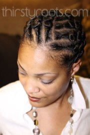flat twist hairstyle design