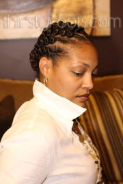 flat twist hairstyle black