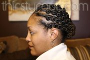 flat twist hairstyle side