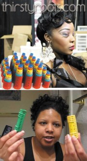 roller set short relaxed hair