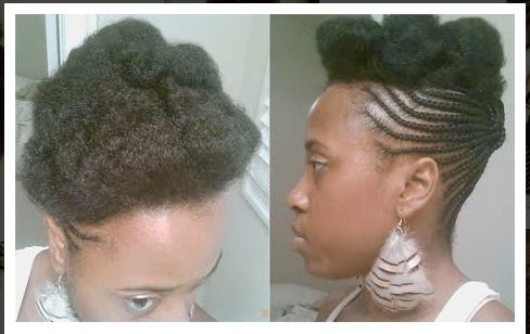 Braided Updo Natural Hair