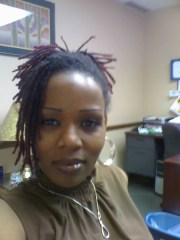 colored and styled dreads hairstyle
