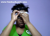 how to wrap short black hair at night