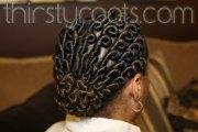 flat twists bun protective hairstyle