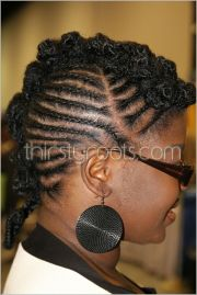cornrows braids mohawk