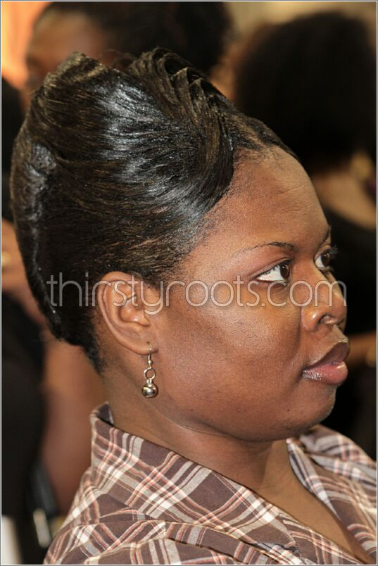 French Roll Hairstyle Black Hair : french, hairstyle, black, Relaxed, French