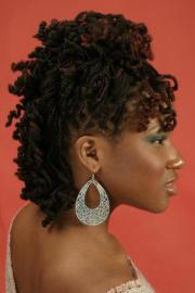 curly braided hairstyle