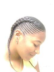 cornrow braided hairstyle - side