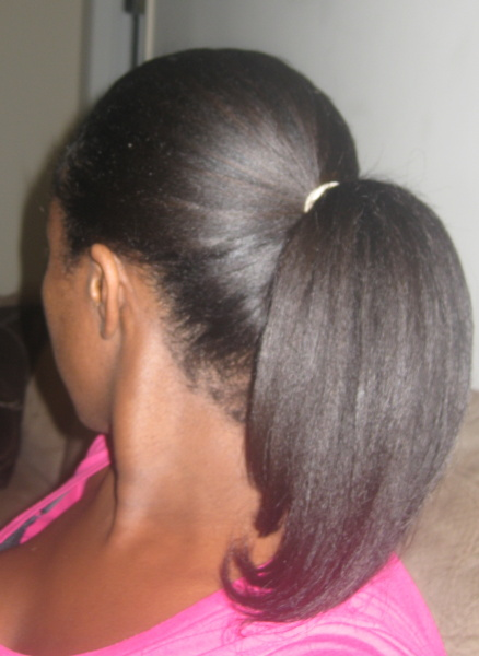 Relaxed Hair Ponytail  thirstyrootscom Black Hairstyles